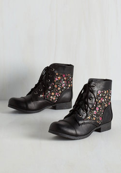 Hike Through Hollywood Bootie in Black Bouquets