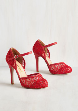 Tea House Haute Heel in Crimson