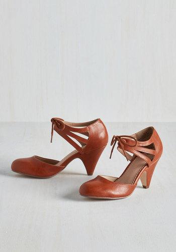 Shimmy My Way Heel in Caramel $64.99 AT vintagedancer.com
