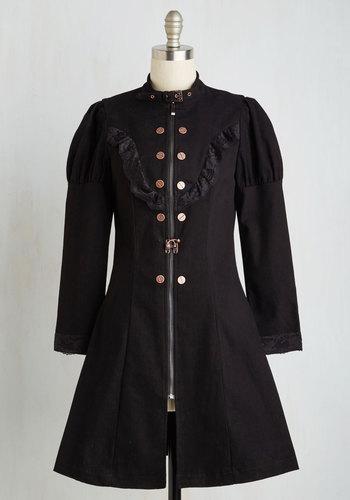 Marvelous Moniker Coat in Noir