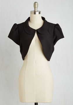 The Straight and Bolero Jacket in Black