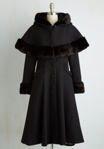 Retro Vintage Style Coats, Jackets, Fur Stoles Cape Me Company Coat $299.99 AT vintagedancer.com