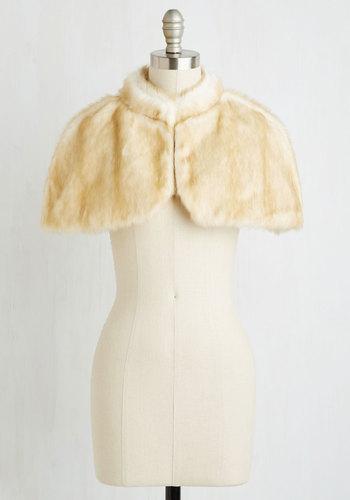 Fierce Finery Capelet in Cream $89.99 AT vintagedancer.com
