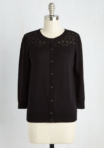 Bake-Off the Charts Cardigan in Licorice $44.99 AT vintagedancer.com