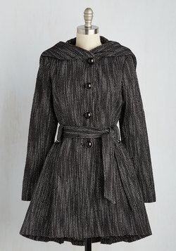 Once Upon a Thyme Coat in Salt and Pepper