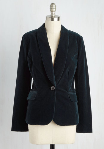 Bet on Velvet Blazer in Midnight Blue