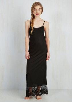 Loveliest Lining Maxi Slip in Noir