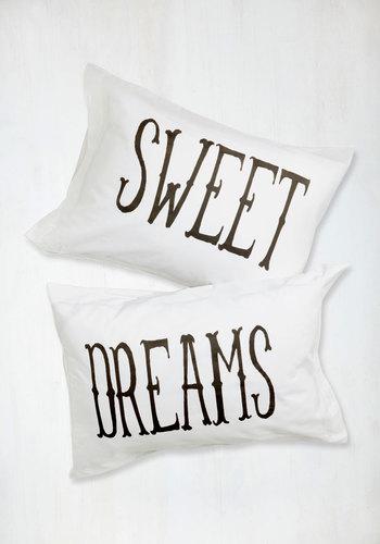 Rockabye Lady Pillowcase Set - Cotton, White, Black, Dorm Decor, Good, Valentine's