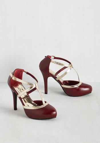 Glitz Me When Im Gone Heel in Merlot $49.99 AT vintagedancer.com