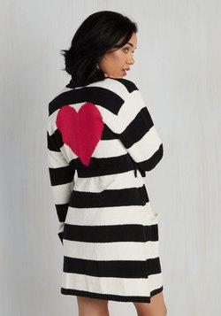 Love Above All Robe in Black Stripes