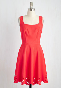 Eyelet Getaway Dress in Carnation