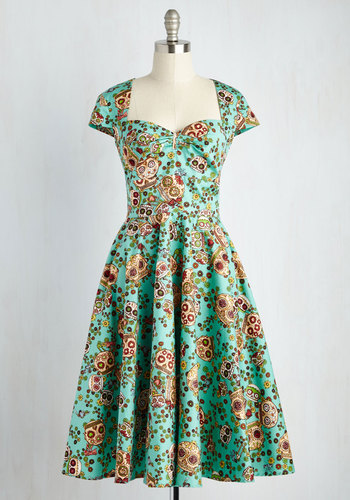Calavera Era Dress $89.99 AT vintagedancer.com