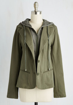 Collaborative Combo Blazer in Olive
