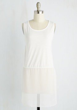 Gossamer Glam Tunic in White