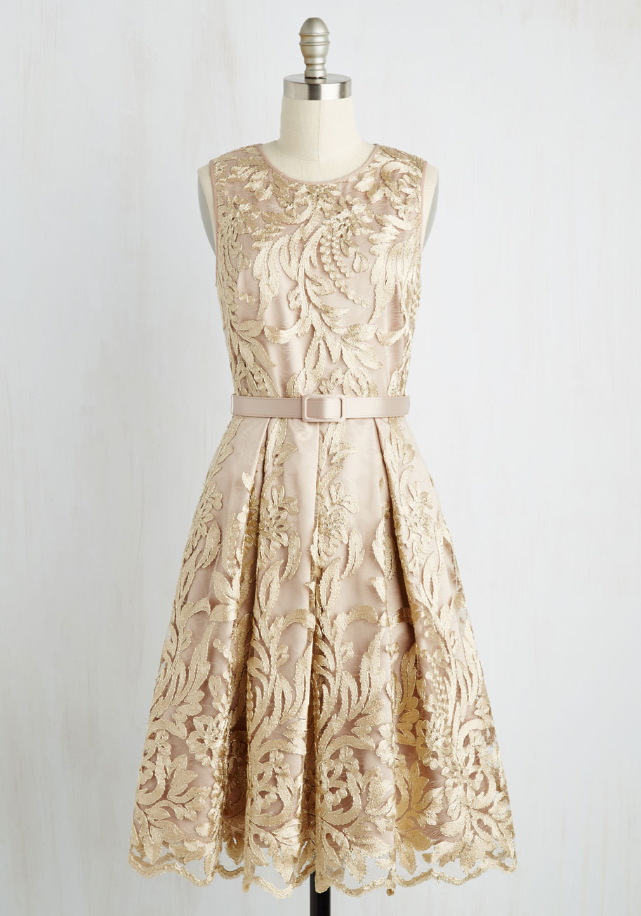 Screen actors soiree a line dress mod retro vintage for Mid length dresses for wedding guests
