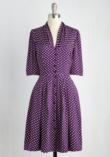 Star Studded Performance Dress in Dots $99.99 AT vintagedancer.com