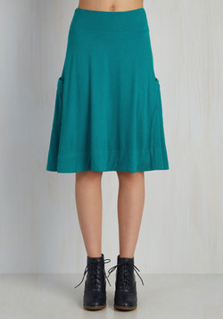 At the Racquet of Dawn Skirt in Teal