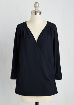 Elegant Epiphany Top in Navy