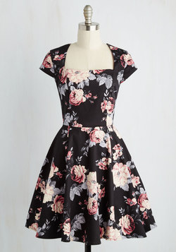 Cornerstone of Classy Dress in Black Bouquet