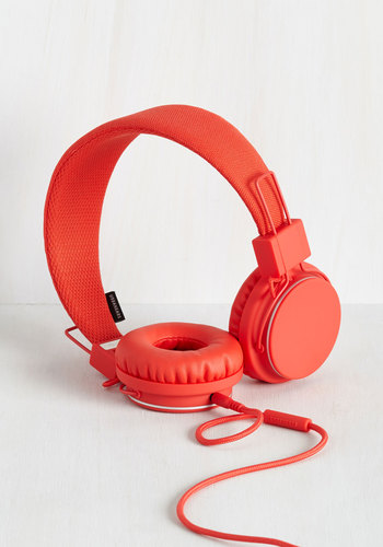 Thoroughly Modern Musician Headphones in Tomato by Urbanears - Red, Solid, Music, Better, Colorsplash, Valentine's, Lounge, Variation, Guys