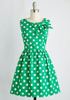 The Pennsylvania Polka Dress in Shamrock Dots
