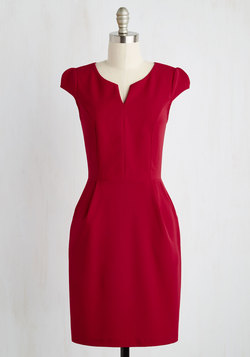 Cove Conference Dress in Ruby