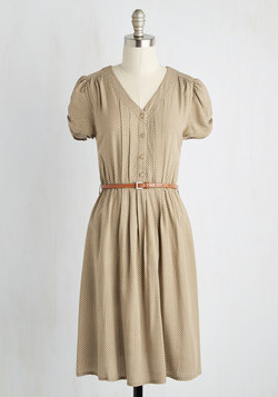 Take to the Wind Dress in Tan