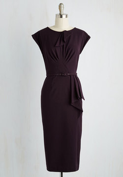 Once and For All Dress in Deep Plum