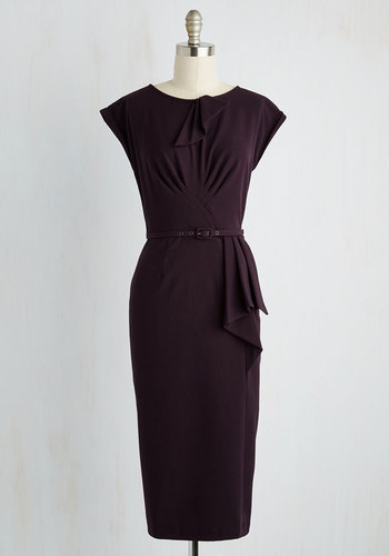 Once and For All Dress in Deep Plum $174.99 AT vintagedancer.com