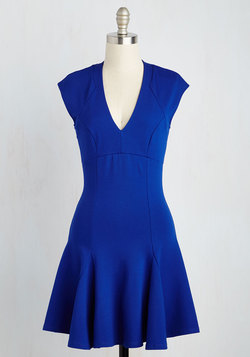 A Dash of Flair Dress in Sapphire
