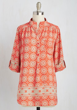 Cook Lively! Top in Tangerine