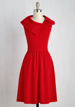 Trolley Tour Dress in Ruby