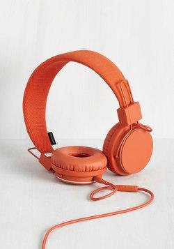 Thoroughly Modern Musician Headphones in Terra-Cotta