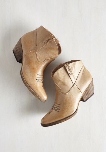 The Styled, Wild West Bootie in Sand