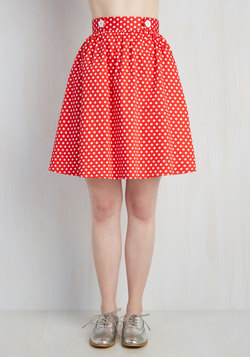 Lively Lifestyle Skirt in Red