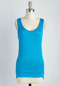 Regular Route Athletic Top in Cerulean
