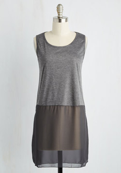Gossamer Glam Tunic in Charcoal