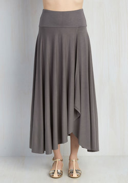 Travel Writing Workshop Skirt in Slate