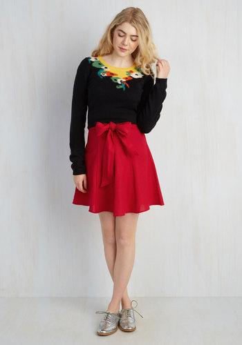 Musee Matisse Skirt in Crimson
