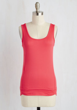 Regular Route Athletic Top in Carnation