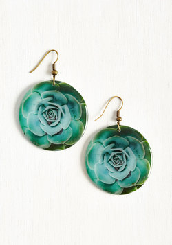 Echeveria From the Norm Earrings