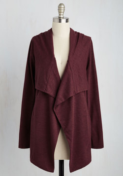 Chill You Be Mine? Cardigan in Burgundy