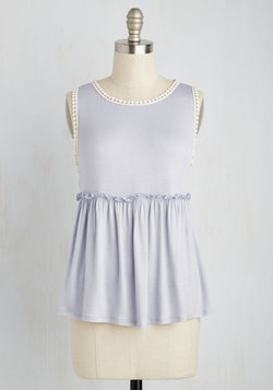 Lovely Literarian Top in Lilac