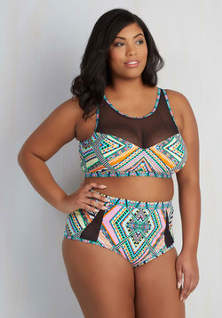 Extended Sizes - Sunbeam Me Up! Swimsuit Top - 1X-3X