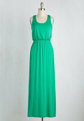 Breezy Night Stroll Dress in Green