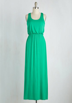 Breezy Night Stroll Dress in Green