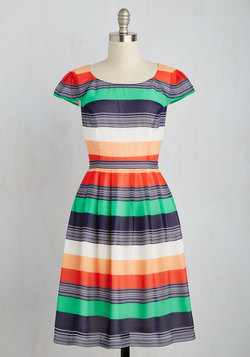 Made for Each Color Dress in Stripes