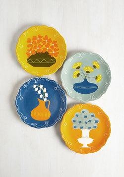 Save Bloom For Dessert Plate Set