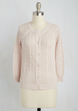 Heirloom Hunting Cardigan in Blush