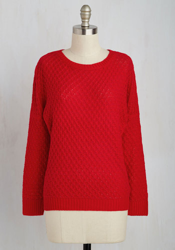 Consider It Casual Sweater in Red
